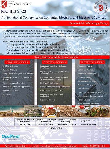 1st International Conference on Computer, Electrical and Electronic Sciences, ICCEES 2020""
